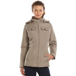 D.E.T.A.I.L.S Women's Hooded Anorak Jacket - Brown - XL