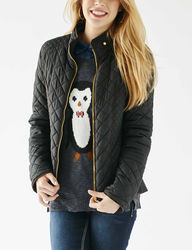 YMI Women's Quilted Puffer Jacket - Black - Size: Medium