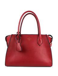 London Fog Women's Oxford Tote Handbag - Red