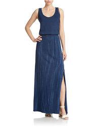 Donna Karan Mesh Back Maxi Dress - Indigo - Size: Medium