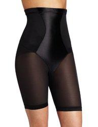 Maidenform Flexees Women's Hi-Waist Thigh Slimmer - Black - Size: XL