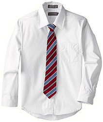 Dockers Big Boy's Shirt & Tie Set - White - Size: Medium