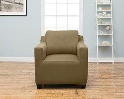Dawson Collection Twill Strapless Slipcover - Chair - Beige
