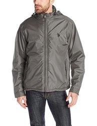 U.S. Polo Assn. Men's Mock Neck Polar Fleece Lined Jacket - Size: Large