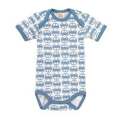 Giggle Kids Better Basics Short Sleeve Baby Body Cars - Multi - Size: 6-9M