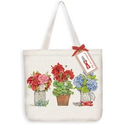 Cottage Flowers Tote Bag