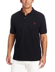 U.S. Polo Assn. Men's Solid Polo With Small Pony - Black - Size: Medium