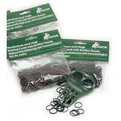 Equi-Essentials Braiding Set - Complete with Comb and Bands Set Black None