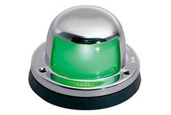Perko Horizontal Mount Side Light - Chrome/Green