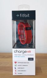 Fitbit Charge HR Heart Rate with Activity Wristband - Tangerine - Large