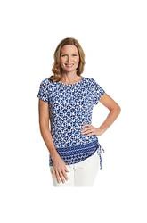 Ruby Rd. Women's Modern Mosaic Printed Embellished Knit Top
