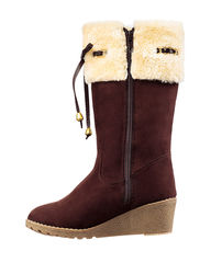 Kensie Girl's Alyse Wedge Boots - Brown - Size: 5