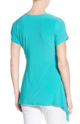 Chaus Women's Solid Color Zippered Sharkbite Top - Fuschia - Size: Medium