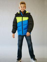 Vertical 9 Boy's Puffer Jacket - Blue/Black - Size: 8-20