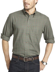 Arrow Men's Long-Sleeve Heritage Twill Woven Shirt - Olive - Size: XL