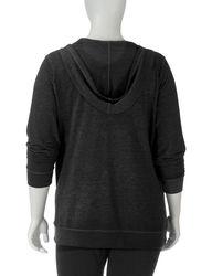 Silverwear Women's Plus-sizes Mineral Wash Pullover Hoodie - Purple - XXL