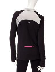 RBX Women's Fleece Sport Top - Black/Pink - Large