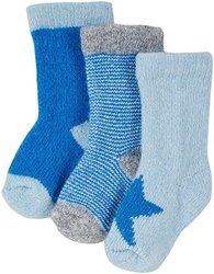 White+Warren Baby Boys' 3 Pack Socks -Juniper Multi-0-6 Months