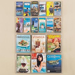 Safco Clear Plastic Literature Display Wall Rack for 12 Pamp./6 Mag 1