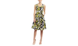 Mlle Gabrielle Sleeveless Floral Fit and Flare Dress - Multi - Size:Medium