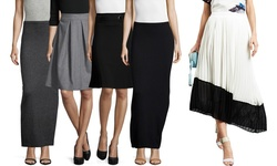 Zero Degrees Celsius Pleated Midi Skirt: Ivory - Large