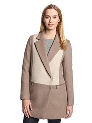 Dawn Levy Women's Lila Wool Blend Coat - Sand - Size: Large