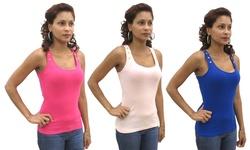 Buffalo Women's Studded Ribbed Knit Tank Top - Peach - Size: Medium