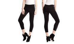 Olivaceous Faux Suede Leggings - Black - Size: Medium