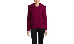 Jill Stuart Dilan Wool Coat - Berry - Size: 2