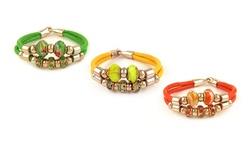 Swarovski Elements Women's Crystal & Murano Bead Charm Bracelet - Black