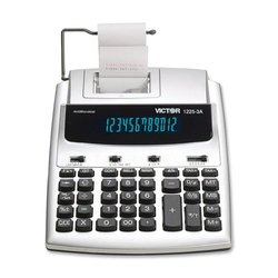 "Victor 12253a Commercial Calculator Fluorescent - 2.5"" X 7.8"" - White"