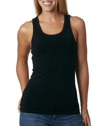 Ladies' Racer Tank - Black - Size: Medium