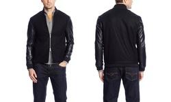 Slate & Stone Dylan Varsity Jacket - Black - Size: Large
