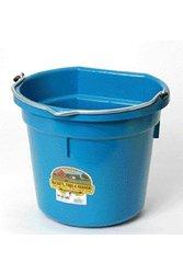 Miller 20 Quart Flatback Plastic Bucket in Teal