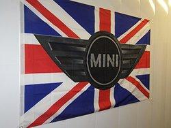 Mini Cooper Flag Banner 3ft X 5ft-new Design