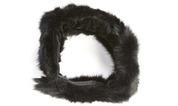 Surell Pieced Women's Rabbit Headband/Scarf - Black - Size: One