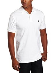 U.S. Polo Assn. Men's Solid Polo With Small Pony - White - Size: XX-Large