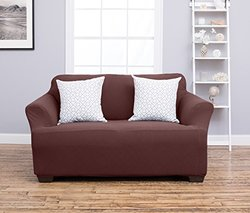 Home Fashion Cambria Strapless Loveseat Slipcover -Chocolate - Sz:Loveseat
