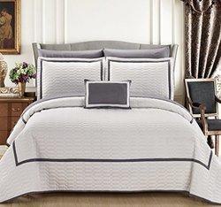 Chic Home 8 Piece Mesa Hotel Collection 2 Tone Quilt In A Bag - Queen
