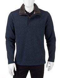 Weatherproof Vintage Men's Fleece 1/4 Zip Pullover - Blue - Size: Large