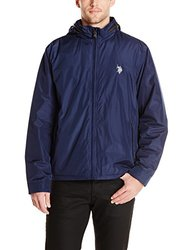 U.S. Polo Men's Mock Neck Polar Fleece Lined Jacket - Navy - Size: XL