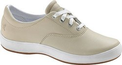 Grasshoppers Women's Janey Leather Lace-Up Sneaker - Stone - Size: 7.5