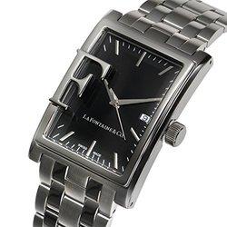 La Fontaine & Co Ladies Watch: Frizon-62625545/Silver Band-Black Dial