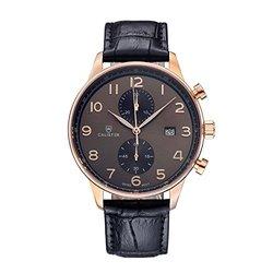 Calister Vernazza Swiss Chronograph Men's Watch: Black Croco Strap VERN004