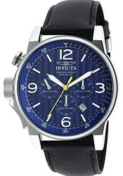 Invicta Men's Chronograph Watch: 20131SYB Black Band-Blue Dial