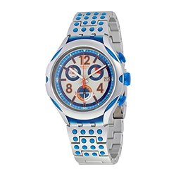 Swatch 16 Dots Unisex Watch with Aluminum Case - Grey Dial