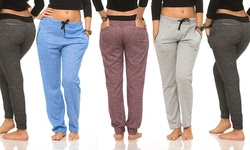 Women's 5-Pack Color-Contrast Joggers - Assorted - Size: Medium