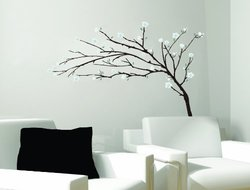 Art Appliques Tree Branches Flowers Huge Wall Mural Decal Sticker