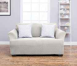Home Fashion Designs Cambria Collect Strapless Love Seat Slipcover - Ivory