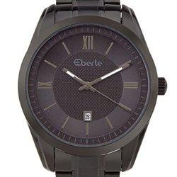 Eberle Dormer Men's Watch: EB-15171_D-Black Band/Black Dial